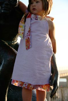 I made up this A-line dress pattern. Under skirt and neck tie with Anna Maria Horner voiles. Pic taken at Hermosa Pier.