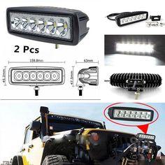 2x Car Daytime Running Light 6LED DRL Fog Driving Daylight Super White Head Lamp
