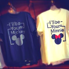 Mickey & Minnie tees, perfect for my honeymoon to Disney Land :D