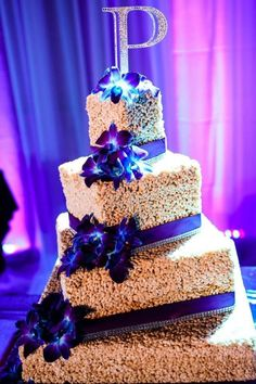 Rice Krispy wedding cake by Whippt desserts & catering