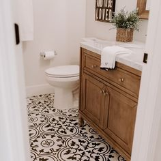 Amber Miller on One of the things I look for in a fixer upper is a dated bath and/or space to create a master bath. I hit the jackpot with this twofer Bathroom Floor Tiles, Downstairs Bathroom, Wall Tile, Tile Floor, Master Bathroom, Spanish Bathroom, Bathroom Beadboard, Cozy Bathroom, Tile Grout