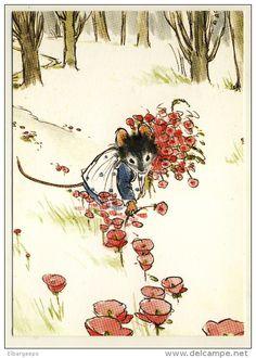 Ernest et Célestine au Jour le Jour de Gabrielle Vincent - Petite Souris cueille des Fleurs