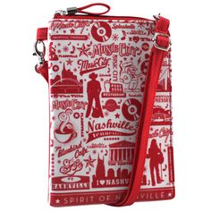 Cross-body Phone Bag - Music City Icons – Alicia Klein - Taxi Wallet - OWLrecycled