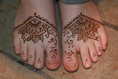 Henna Foot Tattoos at Jewlicious Festival   by Jewlicious