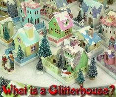 Note Songs: How I Make Glitter Houses Ekki til að borða aðeins skreyting sem geymist ár frá ári ;)