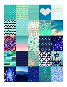 Stickers- Cute Blue Themed Pictures and Quote, Erin Condren, Filofax, Planner, Plum Planner