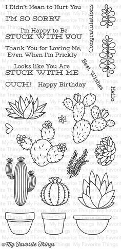 MFT STAMPS: Sweet Succulents