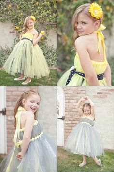 flower girl dress...this would be so easy to make...