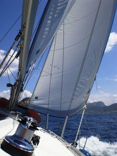 Sailing around the Spanish Islands in the Mediterranean Sea