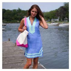 The Classic Dress - Marine Blue Sleeveless
