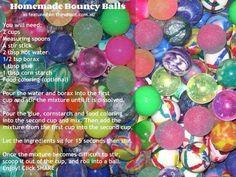 homemade DIY bouncy balls for kids