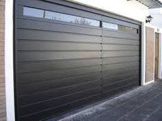 Imagen relacionada Metal Garage Doors, Modern Garage Doors, Garage Door Styles, Garage Door Design, Main Gate Design, House Gate Design, Modern Shutters, Gate Designs Modern, House Extension Design