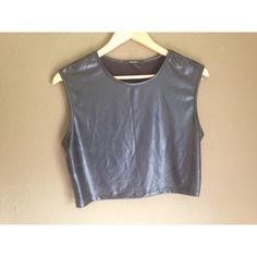Forever 21 Faux Leather Crop Top This top is in pretty good condition, it has a line down the middle from being folded up in my drawer for so long. Forever 21 Tops Crop Tops