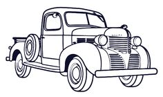 Antique Truck Coloring Pages See the category to find more printable coloring sheets. Also, you could use the search box to find what you want. Truck Coloring Pages, Free Coloring Sheets, Coloring Pages For Boys, Free Printable Coloring Pages, Coloring Book Pages, Antique Trucks, Antique Cars, Vintage Cars, Foto Art