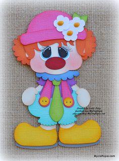Clown Party Premade Scrapbooking Embellishment Paper Piecing