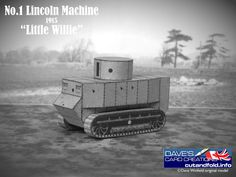 Little Willie Tank Paper Model by Dave Winfield - Dave's Card Creations © www.cutandfold.info