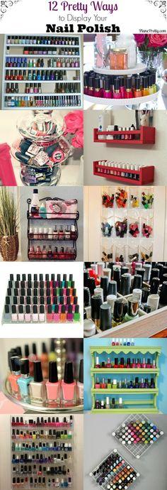 Neat ways to organize your nails polishs