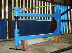 Pneumatic Planishing Hammer by GJM -- Homemade pneumatic planishing hammer powered by an air chisel. http://www.homemadetools.net/homemade-pneumatic-planishing-hammer-2