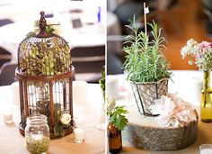 Love the potted herb idea