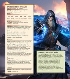 [Monster] Duplicating Wizard