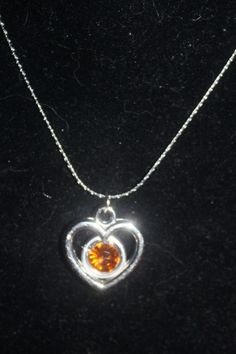"JANUARY BIRTHSTONE PENDANT and 16"" CHAIN.... FREE SHIPPPING! NO COPIOUS FEES! $4.50"