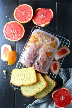 Grapefruit cake gives a not too sweet option for parties or snacks.