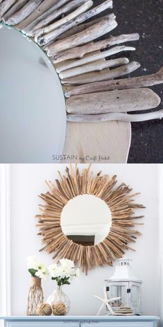 large FEATHER- neutral colored wall art - made from recycled magazines, unique, home decor, interior Diy Crafts For Home Decor, Handmade Home Decor, Diy Wall Decor, Diy Crafts To Sell, Diy Bedroom Decor, Cork Crafts, Sell Diy, Mirror Crafts, Diy Mirror
