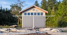 "worclip: "" Hood Canal Boathouse (2008) by Bosworth Hoedemaker Architects: Steve Hoedemaker and Kelly Jimenez Photographed by Alex Hayden Location: Toandos Peninsula, WA, USA "" This project is about the re-imagining of an existing lightless and..."