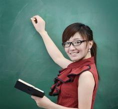 她是我的老师。     Tā shì wǒ de lǎoshī.    She's my teacher. Chinese, Korea, Chinese Language