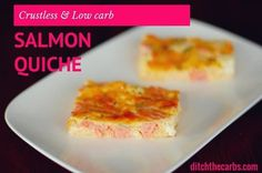 Crustless Salmon Quiche is grain free, gluten free, wheat free and low carb. With dill and cream cheese it is a beautiful dish for dinner, or cold for… Low Carb Quiche, Keto Quiche, Easy Quiche, Quiche Recipes, Quiche Crustless, Banting Recipes, Low Carb Recipes, Cooking Recipes, Diet Recipes