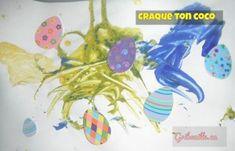 Voici une belle activité pour enfants pour bricoler à Pâques. Voici, Sticker, Children, Let Down, Paint