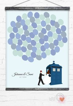 Doctor Who Wedding Guest Book Alternative Tardis by MDBWeddings, $48.00