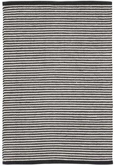Puuvillamatto 160 x 230 cm, musta/valkoinen