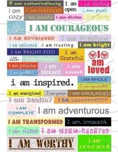 Create an affirmations sheet/board/index card...