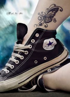 Love this; the tatt, shoes. Awesome.