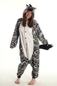 #Halloween : Zebra Onesie Pyjamas - Genuine Kigurumi Animal Costumes for Adults - Men  Women - Great All in One Fancy Dress... #HalloweenCostume #2013