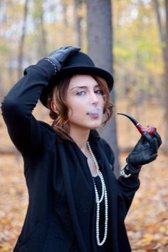 Oh, you know, just out in the forest, smokin' a pipe...with my hat. And gloves. I'm not kinky though. http://pipelovinladies.tumblr.com/post/31860339229/title-fosse-photo-by-zaratops