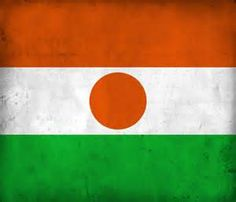 The flag of Niger has been a national symbol for the Republic of Niger since 1959, a year prior to the country's formal independence from France.  The top orange band is said to represent the northern regions of the Sahara Desert, the white to represent the River Niger, and the lower green is commonly interpreted as the fertile regions of southern Niger.