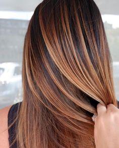 Balayage Hair Caramel, Balayage Brunette, Brunette Hair, Caramel Hair Highlights, Carmel Balayage, Fall Balayage, Red Highlights, Fall Hair Color For Brunettes, Highlights For Brunettes