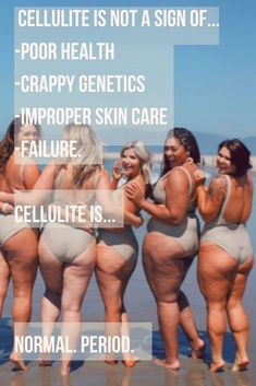 Cellulite is NOT a sign of. -poor health -crappy genetics -improper skin care -failure  Cellulite IS. Confidence Boosters, Confidence Tips, Body Love, Loving Your Body, Cellulite, Normal Body, Real Bodies, Emotional Stress, Skin Care Treatments