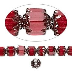 Bead, Preciosa Czech fire-polished glass, red, 6mm cathedral. Sold per 16-inch strand.