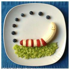 Cute!  Needs a kiwi slice shell to make it into a snail :)