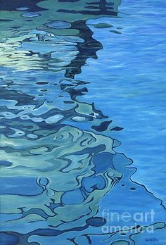 Blue Reflections by Danielle Perry Fine Art Swimming Pictures, Water Pictures, Water Images, Water Patterns, Water Art, Water Reflections, A Level Art, Ocean Art, Colorful Drawings