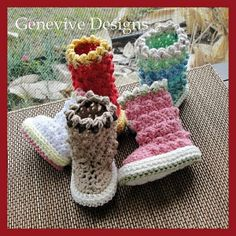 Ravelry: Raindrop Baby Boots pattern by Genevive Hunter by sweet.dreams