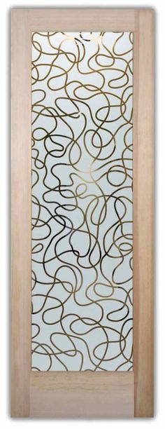 glass front doors custom glass art deco design threads wires squiggles string sans soucie