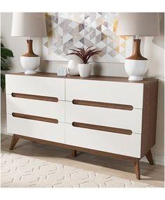 Brown Dresser, Double Dresser, 6 Drawer Chest, 6 Drawer Dresser, Dressers, Inspiration Ikea, Ikea Hacks, Mid Century Dresser, Modern Dresser
