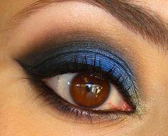 Inspiração da Semana! Maquiagem Azul e Preta da Ivete Sangalo. ~ Misturinha Básica