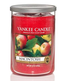 Look at this Yankee Candle Medium Red 'Macintosh' 19-Oz. 5.6'' Two-Wick Scented Candle on #zulily today!