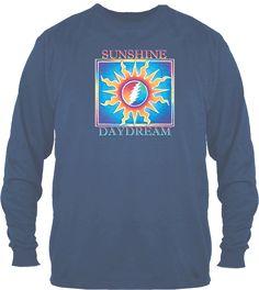 Grateful Dead - Sunshine Daydream Long Sleeve - Purple – Blue Mountain Tie Dye