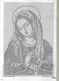 Archivio album Crochet Tablecloth Pattern, Crochet Motif Patterns, Filet Crochet Charts, Diy Bead Embroidery, Hand Embroidery Designs, Cross Stitch Embroidery, Cross Stitch Designs, Cross Stitch Patterns, Fillet Crochet